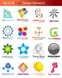Set of 20 Logo Elements Royalty Free Stock Image