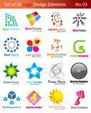 Set of 20 Logo Elements Stock Photos