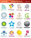 Set of 20 Logo Elements Stock Photos
