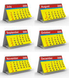 Set 2009 year calendar. Isolated 3D image vector illustration