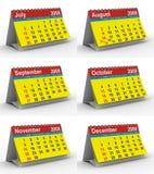 Set 2009 year calendar Stock Photos