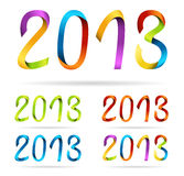 Set of 2013 design inscriptions Stock Images