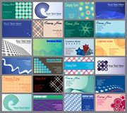 Set of 24 Business Cards Desig. Vector illustration of 24 business card designs Stock Photography