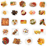 Set of 24  dishes Royalty Free Stock Photo