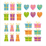 Set of 24 gift icons Stock Images