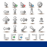 Set of 26 Mouse Pointer Cursor Ic Stock Photography