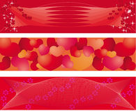 Set of 3 banners on balentine day royalty free stock image
