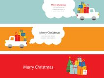 Set of 3 christmas cards Royalty Free Stock Photos