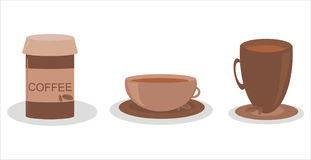 Set of 3 coffee icons Stock Images