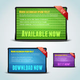 Set of 3 download banners for your website. Royalty Free Stock Photography