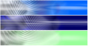 Set 3 Energetic Fields Header Stock Photo