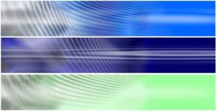 Set 3 Energetic Fields Header. Banners suitable for headers in web sites, with energetic fields effect vector illustration
