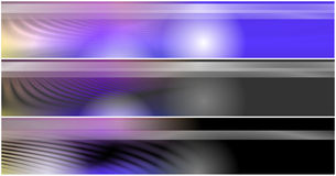 Set 3 Headers Banners Stock Photos