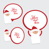 Set of 3 red and white christmas labels Royalty Free Stock Photo