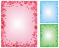 Set of 3 romantic backgrounds Stock Photo