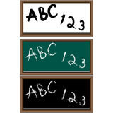 Set of 3 School Boards Royalty Free Stock Images