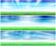 Set 3 Spring Banners Stock Photography