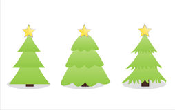 Set of 3 trees icons Royalty Free Stock Image