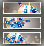 Set of 3 vector bookmark banners. Stock Photography