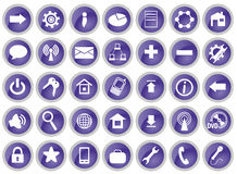 Set of 35 computer icons Stock Photos