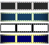 Set 35 mm film strip isolated on white. Background, texture Stock Images