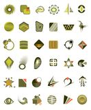 Set of 36 icons. And design-elements vector Royalty Free Stock Photography