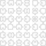 Set of 36 puzzle pieces. Accurate transparent contours of popular design elements - jigsaw puzzle pieces. Set of 36 various shapes fitting each other Royalty Free Stock Photography