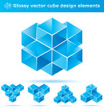 Set of 3d cube designs Stock Image