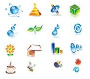 Set of 3D design elements. Royalty Free Stock Photos