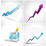 Set of 3D Diagram and arrow Stock Photos