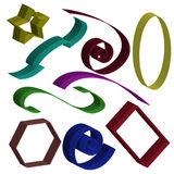 Set of 3d elements Royalty Free Stock Photography