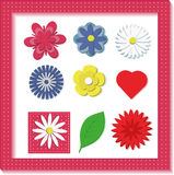 Set of 3d flowers Stock Images