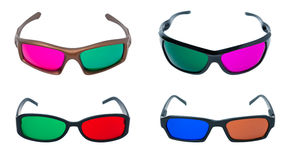 Set of 3d glasses Stock Photography