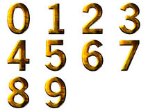 Set 3D golden digit Royalty Free Stock Photos