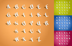 Set of 3d illustration fonts Royalty Free Stock Images