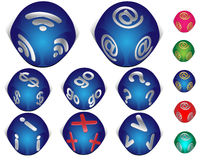 Set of 3d internet icons. Set of  3d internet icons in cube shape, Ai 8 Stock Photos