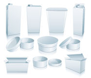 Set of 3D package. Image for design and more Royalty Free Stock Photo
