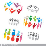 Set of 3D people icons Royalty Free Stock Images