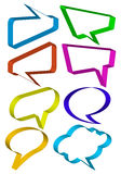 Set of 3d speech bubbles, vector Royalty Free Stock Photo