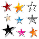 Set of 3d stars Royalty Free Stock Photos