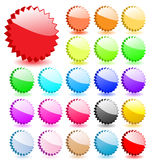 Set of 3D vector stars. Stock Photos