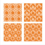 Set of 4  apple patterns Royalty Free Stock Photography