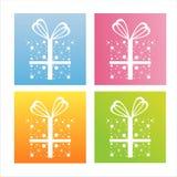 Set of 4 christmas backgrounds vector illustration