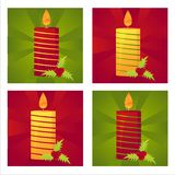 Set of 4 christmas  backgrounds Royalty Free Stock Images
