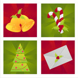 Set of 4 christmas backgrounds Royalty Free Stock Photography