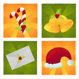 Set of 4 christmas backgrounds Royalty Free Stock Photos