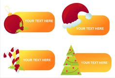 Set of 4 christmas banners Royalty Free Stock Image