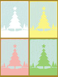 Set of 4 Christmas cards royalty free stock images
