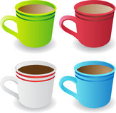 Set of 4 Coffee Cups Stock Images