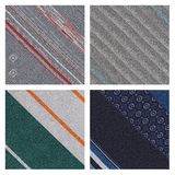 Set of 4 detailed sewn materials Stock Photos